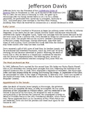 Jefferson Davis Biography with Questions