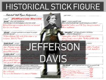 Jefferson Davis Historical Stick Figure (Mini-biography)