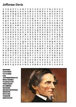 Jefferson Davis Word Search