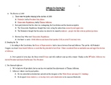 Jefferson Era Student Note Outline with Teacher Key