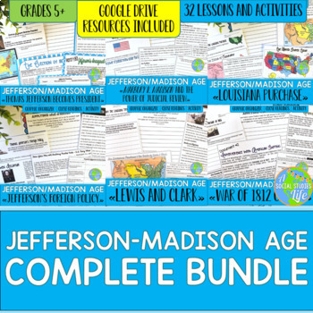 Jefferson, Madison, War of 1812 BUNDLE