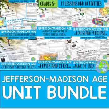 Jefferson, Madison, War of 1812 UNIT BUNDLE with BONUS card sets