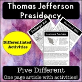 Jefferson Presidency: Guided Reading Passages