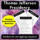 Thomas Jefferson Reading Passages and Activities Bundle