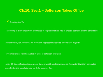 Jefferson Takes Office