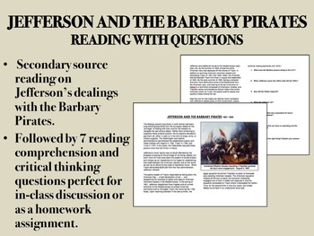 Jefferson and the Barbary Pirates - Reading with Questions - USH/APUSH