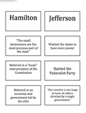 Jefferson vs. Hamilton:  Card Sort!