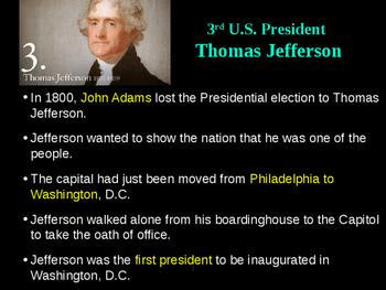Jefferson's Presidency PowerPoint
