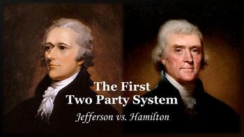 Jefferson vs. Hamilton PowerPoint, Graphic Organizer, and