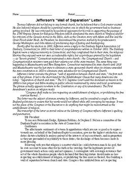 Jeffersonian era readings