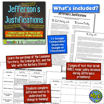 Jefferson's Justifications: Barbary War, Louisiana Purchase, and Embargo Act!