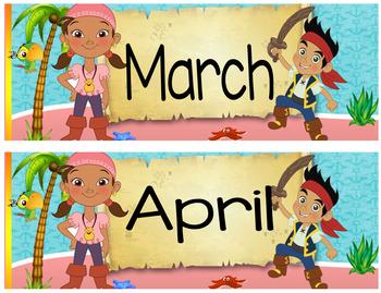 Jake Pirate Calendar 24x20 Bilingual