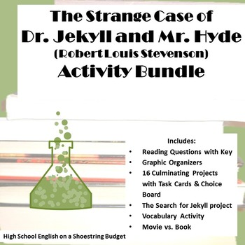 Jekyll and Hyde Activities Bundle (R.L. Stevenson) Word