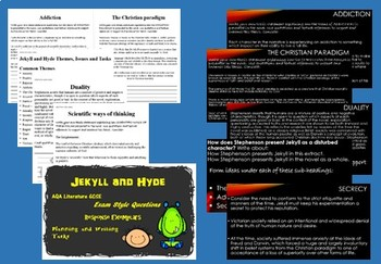 Jekyll and Hyde Essay Question with Plan, Exemplar Analytical Writing and Tasks
