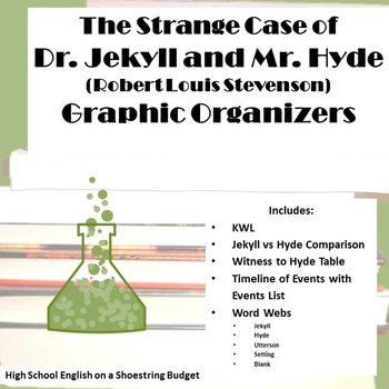 Jekyll and Hyde Graphic Organizers (R.L. Stevenson)