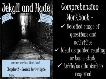 Jekyll and Hyde Printable Reading Comprehension Workbook. Chapter 2.