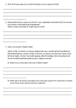 Jekyll and Hyde Printable Reading Comprehension Workbook. Chapter 9.