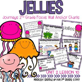 Jellies Focus Wall Anchor Charts and Word Wall Cards