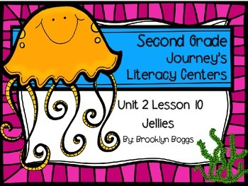Jellies Journey's Literacy Centers - Second Grade Lesson 10