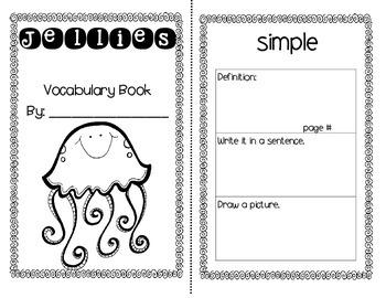 Jellies Journey's Activities - Second Grade Lesson 10