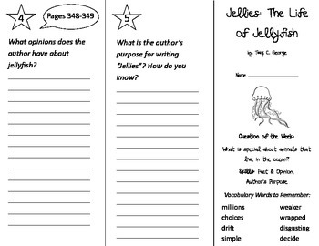 Jellies - The Life of Jellyfish Trifold - Journeys 2nd Gr Un 2 Wk 5 (2014, 2017)