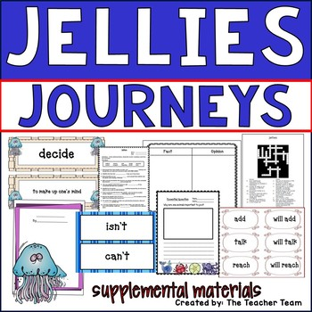 Jellies The Life of a Jellyfish Journeys 2nd Grade Unit 2 Lesson 10 Activities