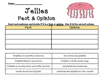 Jellies: The Life of Jellyfish - Fact & Opinion (Journeys)