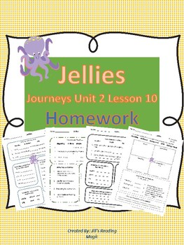 Jellies Unit 2 Lesson 10 Homework
