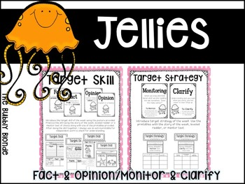 Jellies Unit 2, Lesson 10 Journeys Print & Go with Interactive Pages