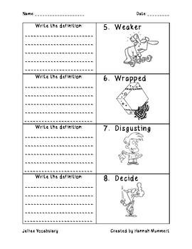 Jellies Vocabulary