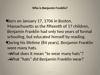 Jelling with Benjamin Franklin, America's First Superstar!