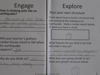 Jello Earthquake STEM Exploration Using the 5E Method