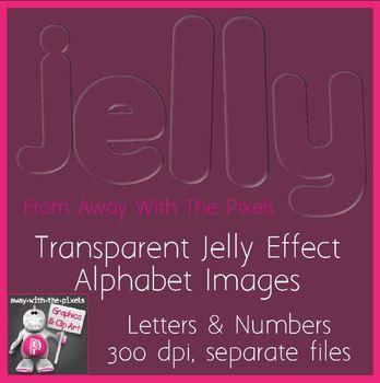 Jelly Alphabet Clip Art - Transparent Letter & Number Clipart