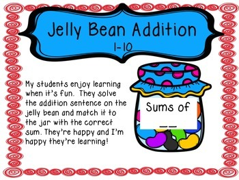 Jelly Bean Addition - Numbers 1-10