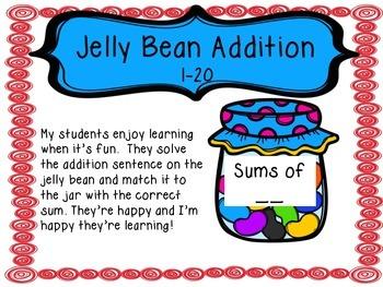 Jelly Bean Addition Bundle 1-20