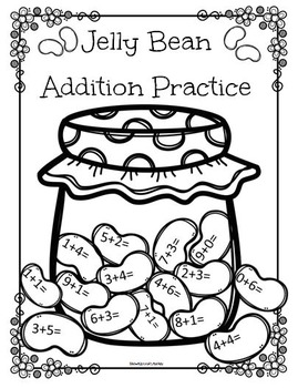 Jelly Bean Addition Practice