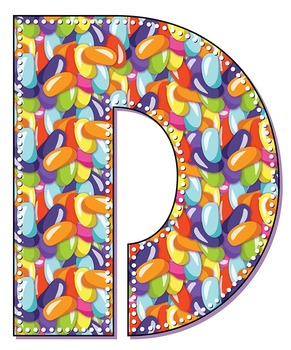 Jelly Bean Alphabet - 91 Files - Latin Letters - PDF - PNGs - 300 DPI – 6 In.