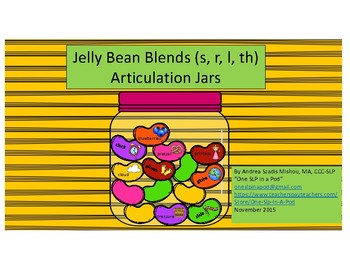 Jelly Bean Blends (s, r, l) - Articulation Jars