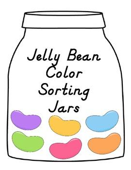Jelly Bean Color Sorting Jars