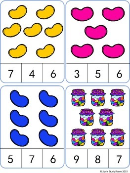 Jelly Bean Count and Clip Cards: Numbers 1-20