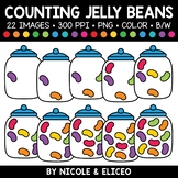 Spring Jelly Bean Counting Clipart