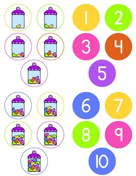Jelly Bean Counting File Folder Game for Special Education