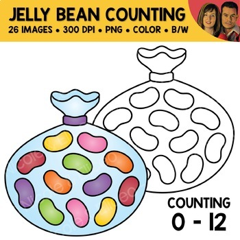 Jelly Bean Counting Scene Clipart
