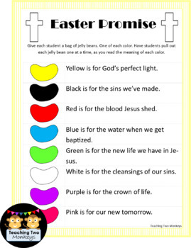 Jelly Bean Easter Promise Free Printable