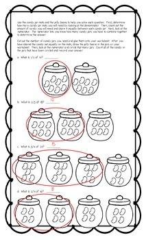 Jelly Bean Fractions Munchie Math Version Two