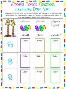 Jelly Bean Graphing ** Freebie**