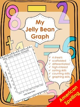 Jelly Bean Graphing - Graphing by Color Attribute - American Spelling