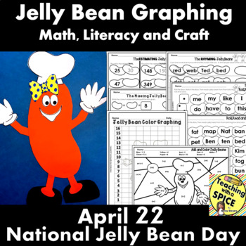 Jelly Bean Graphing, Math, Literacy and Craft Bundle