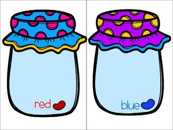 Jelly Bean Jar Magnet or File Folder Activities & Adapted Books