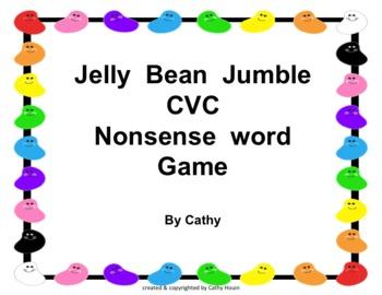 Jelly Bean Jumble Nonsense CVC Words